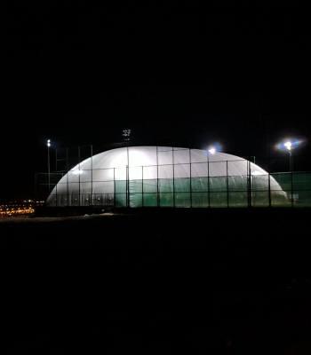 indoor football field amman night