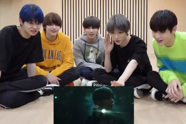 """Watch: TXT Shares Their Reaction To Their Music Video For """"Run Away"""""""