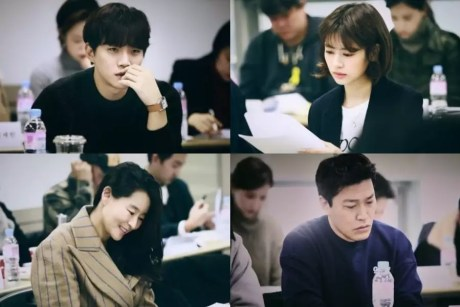 2PM's Junho, Jung So Min, And More Gather For First Script Reading Of New Historical Film