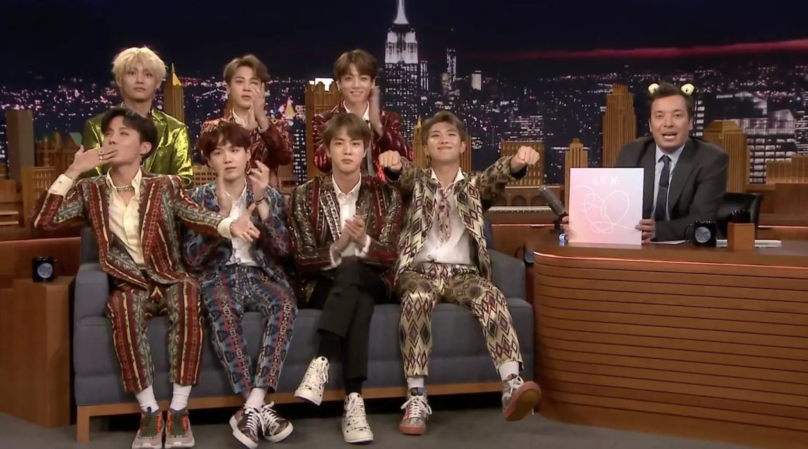 """Watch: BTS Takes On Dance Challenge, Shares Life Updates, And Performs On """"The Tonight Show Starring Jimmy Fallon"""""""