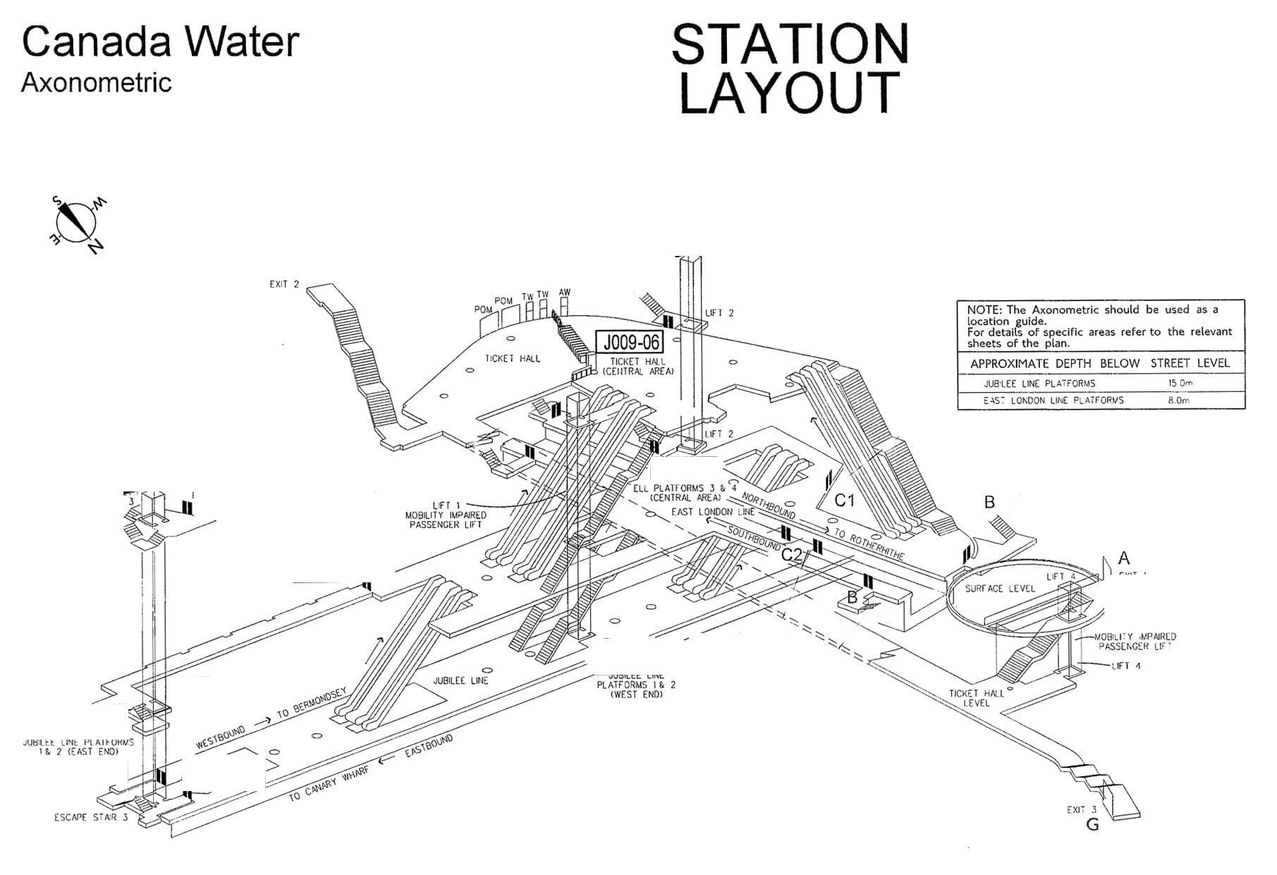 Axonometric Station Maps