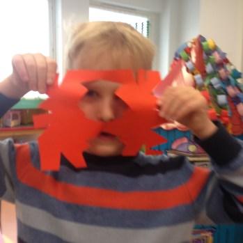 Joni made a snowflake...
