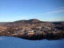 The view from the top of the ski hill