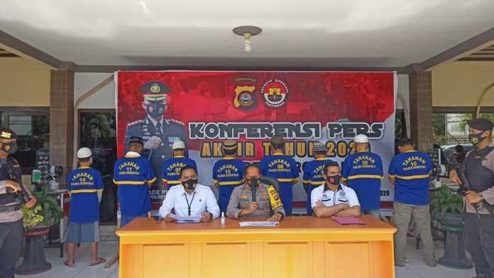 Konferensi Pers Polres Gorontalo