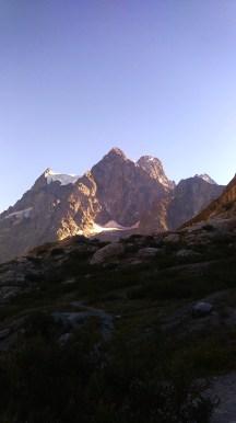 Descente du Glacier Blanc