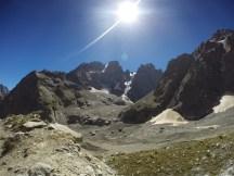 Le Glacier Noir, le Mont Pelvoux et le Pic Sans-Nom