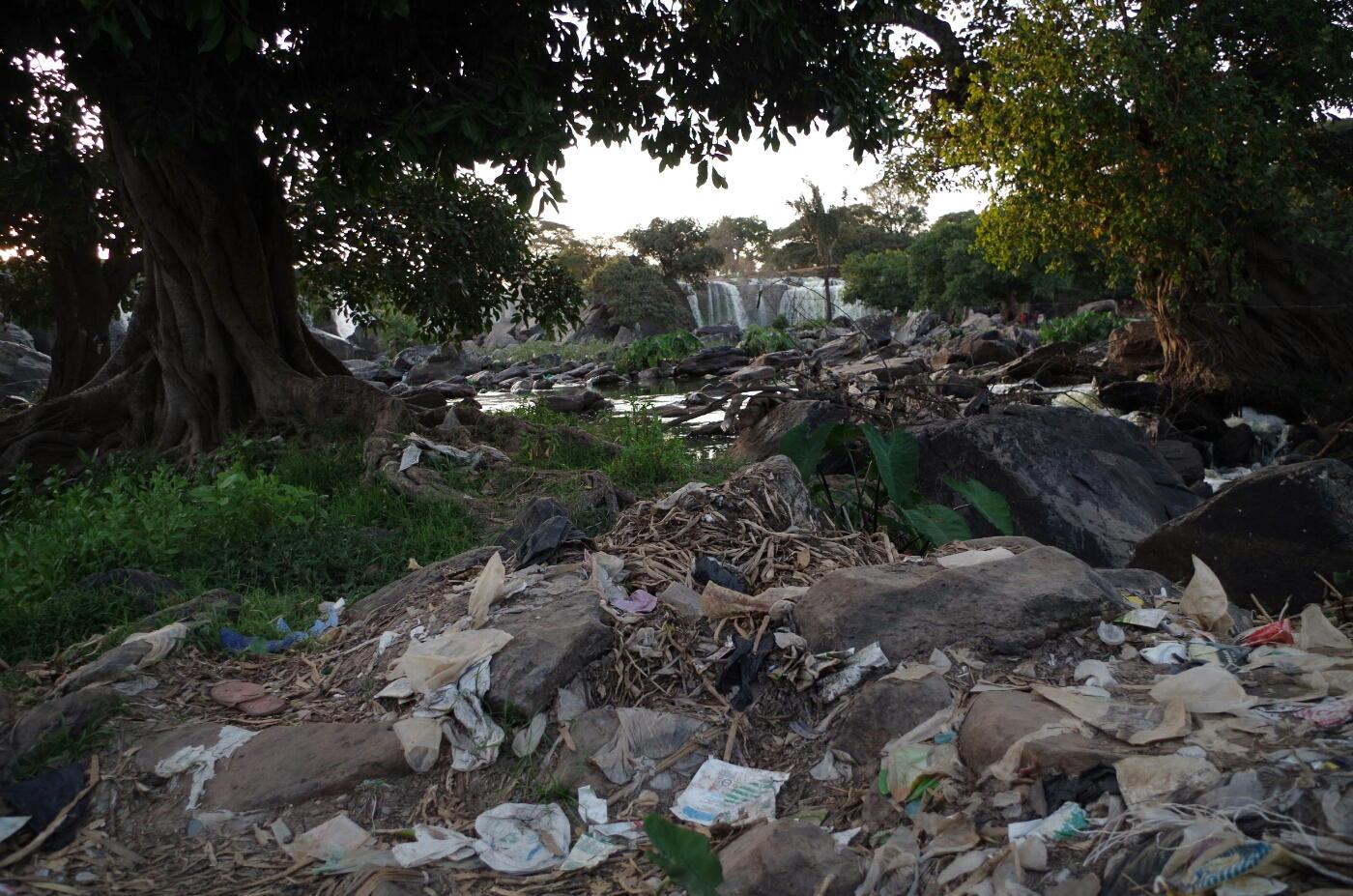 Garbage at Fourteen Falls, Donyo, Kenya
