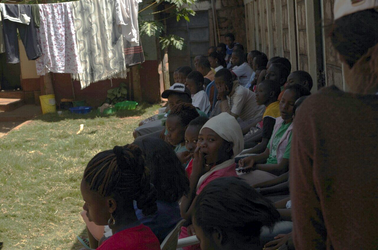 Kids at the DISC initiative in Donyo