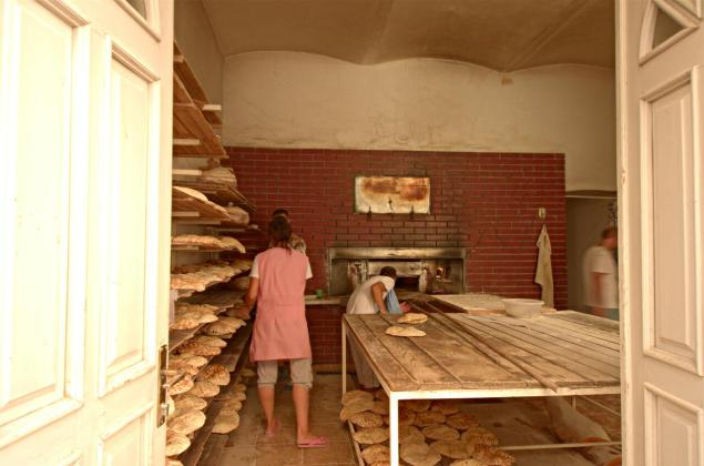 Traditional bakery with a wood oven in Mostar