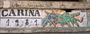 Classic grafitti in Mostar.