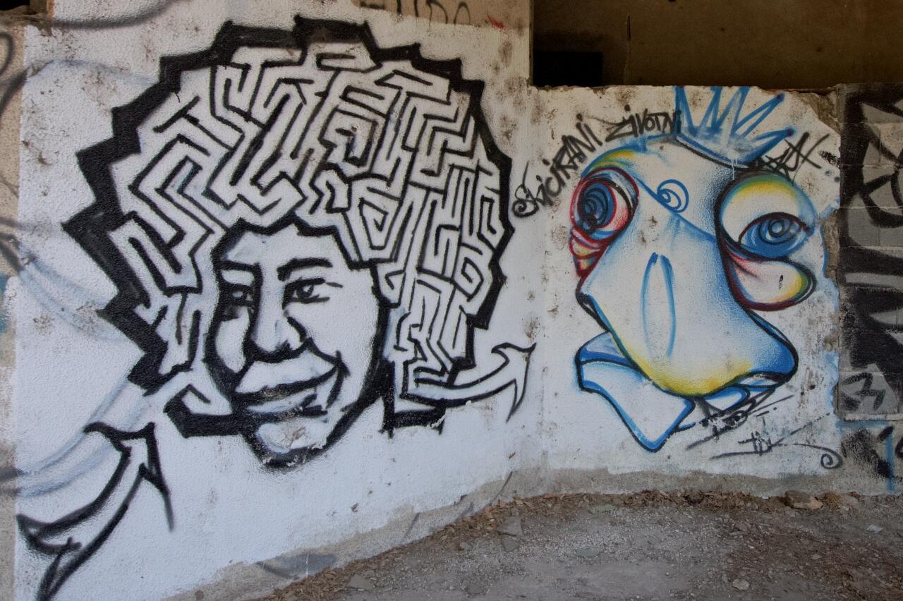 Jime Hendrix, maybe? Street Art in Mostar