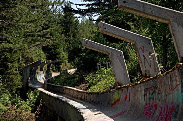 The olympic bobsleight is one of the few places in Sarajevo where you can find some good streetart.