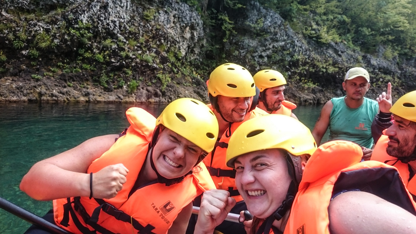 As you can see, our girls took the whole rafting thing rather serious - anybody slacking needed to face Carmens wrath.