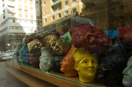 I'm not sure what these pope's heads are supposed to tell us....