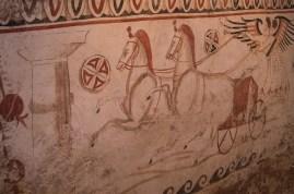 Oscan sarcophagus inside the museum of Paestum