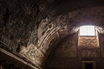 inside one the baths in Pompeii