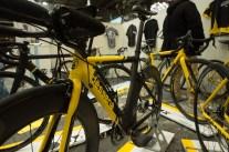 Yellow racing machine