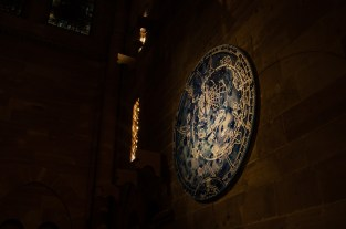 Celestial clock inside Strasbourg cathedral