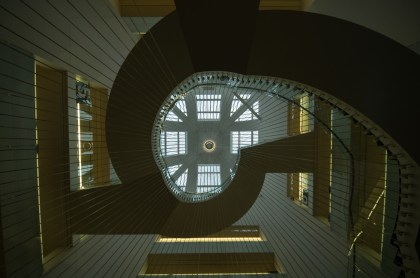 Spiral staircase in the National library in Strasbourg