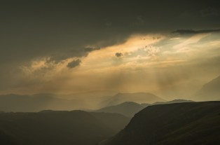 Fogs and clouds drift over Durmitor National Park, creating a fantastic light-show.
