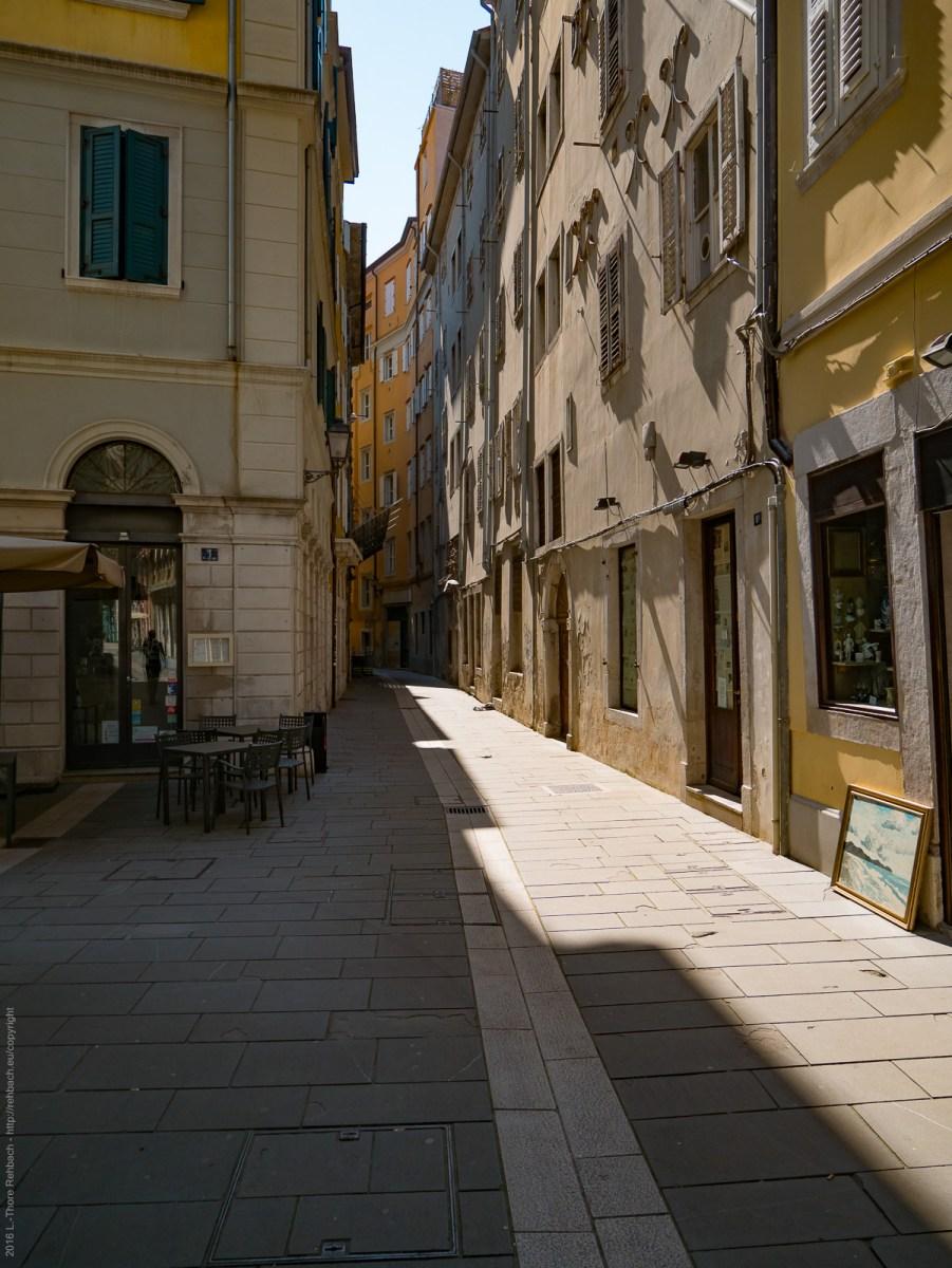 Alley in the former jewish ghetto in Trieste