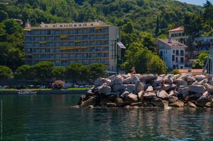 Sunbathers on the mole near Castello di Miramare, Trieste