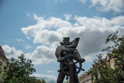 Statue of a sailor commerorating the 1917 uprising