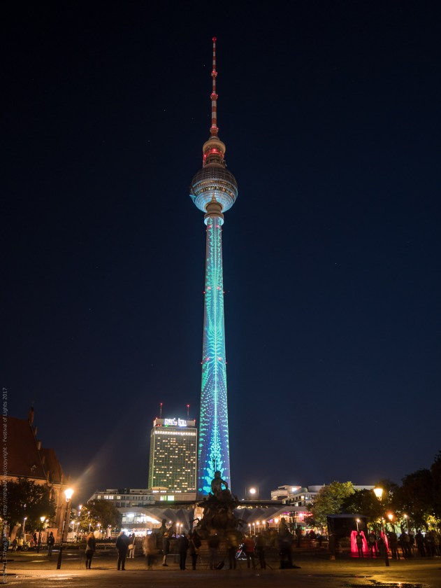 Illuminated TV Tower for Berlin's Festival of Lights