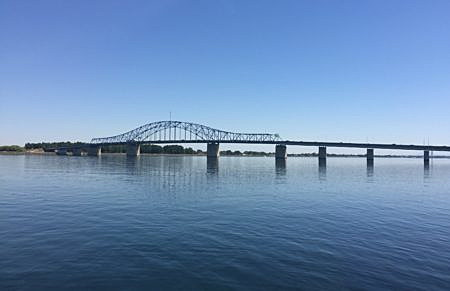View of the Blue Bridge from Columbia Park.