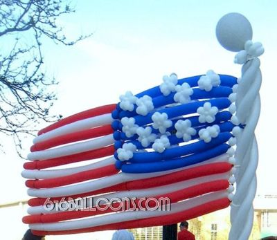 American flag balloon sculpture by 616Balloons.com Grand Rapids, Michigan. Premium balloon art & decor. Corporate events, private parties..