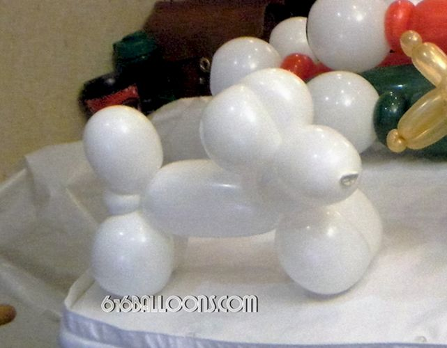 Classic balloon Dog made with extra large balloon by 616Balloons.com Grand Rapids, Mi. Premium balloon art & decor. Corporate events, private parties..