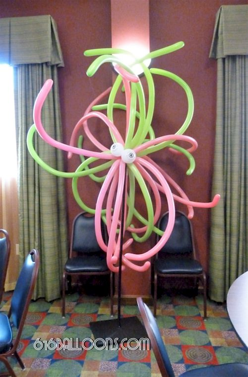 Monster column balloon sculpture by 616Balloons.com Grand Rapids, Mi. Premium balloon art & decor. Corporate events, private parties..