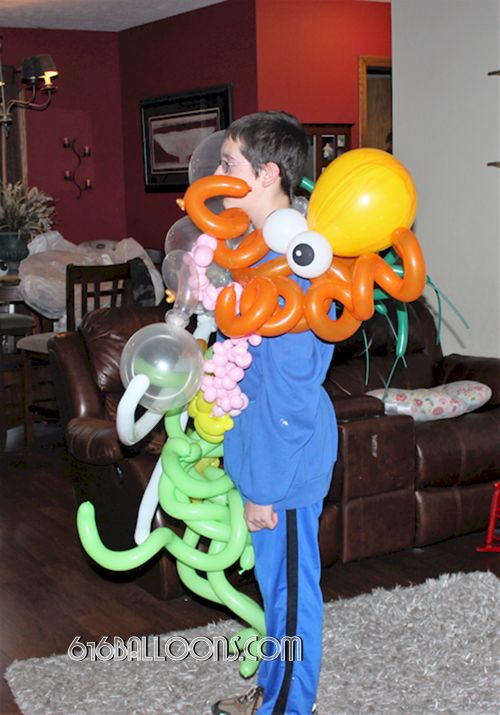 Octopus in under the sea balloon costume by 616 Balloons Grand Rapids, Mi. Premium balloon art & decor. Corporate events, private parties..