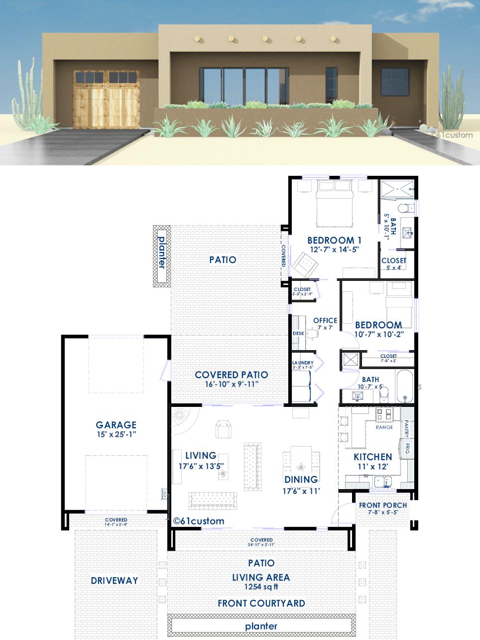 Contemporary Adobe House Plan 61custom Contemporary Modern House Plans
