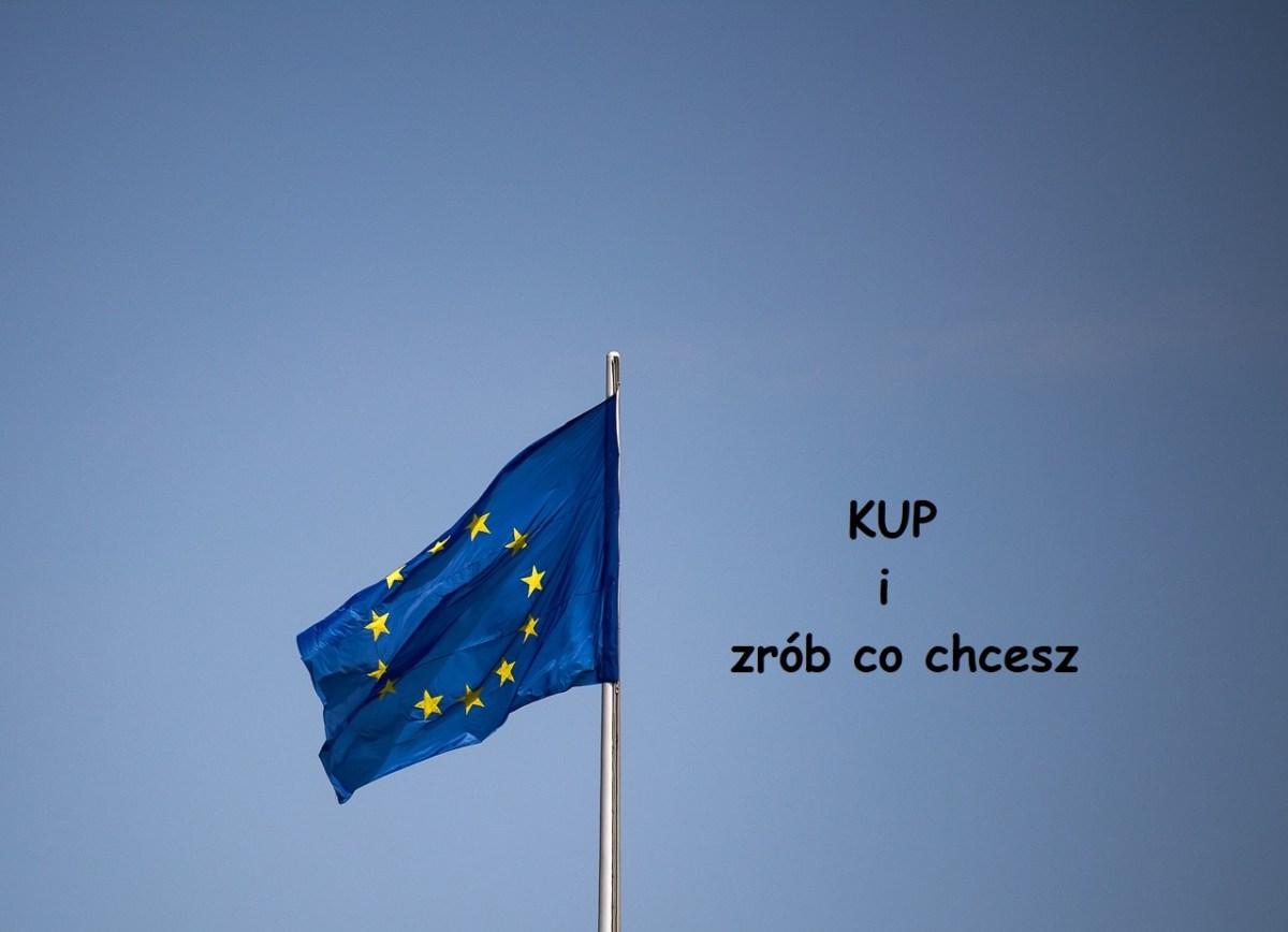 FLAGĘ (logotyp) UE można SPALIĆ