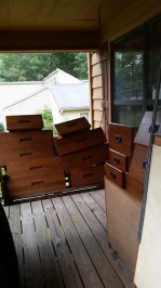 Drawers removed to lighten the load