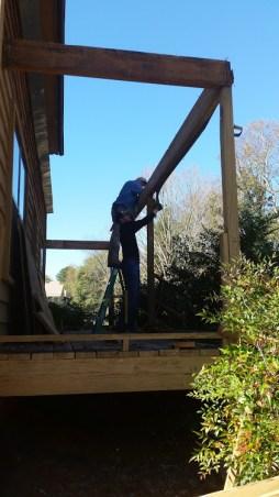 Removing porch beams