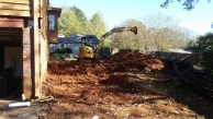Brick walk gone - digging for foundation walls
