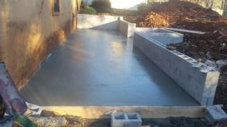 Concrete all poured