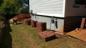 Brick carefully placed - ready to go