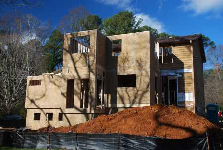 Second Floor exterior walls taking shape