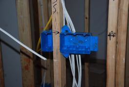 New switch boxes and wiring