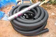 Foundation drain pipe and silt barrier
