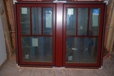 Second Floor windows ready to install