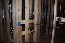 Shower valves at Master - not quite right yet