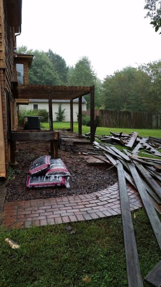 Deck demo from driveway
