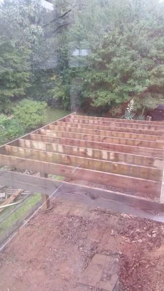 Deck boards gone