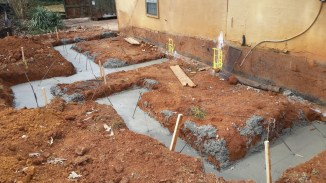 Back footings poured