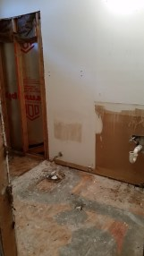 Upstairs toilet and shower gone