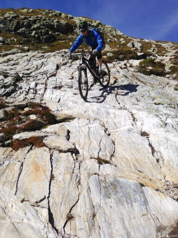 The descent on the Italian side was awesome with some interesting terrain.